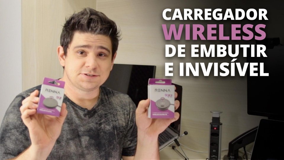 Carregador Wireless de Embutir e Invisível