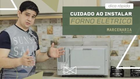 Cuidado ao instalar o forno elétrico na cozinha planejada