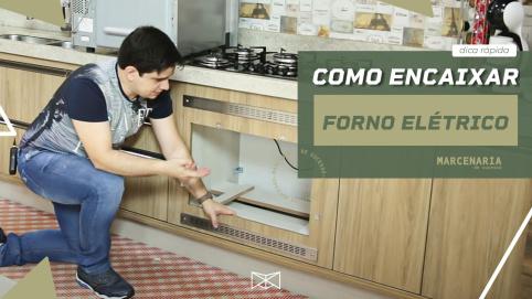 Como embutir o forno elétrico no armário de cozinha